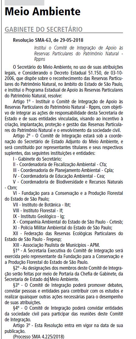 Comite de Integracao de Apoio às RPPNs